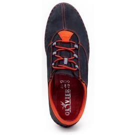 Olivier Men's casual shoes 312K navy blue nubuck 10