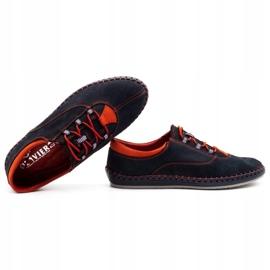 Olivier Men's casual shoes 312K navy blue nubuck 2