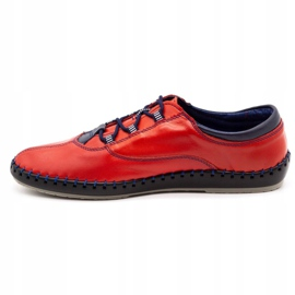 Olivier Casual men's shoes 312K red grain 6