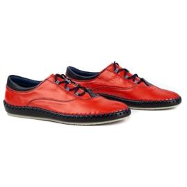 Olivier Casual men's shoes 312K red grain 7