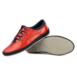 Olivier Casual men's shoes 312K red grain 8