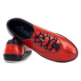 Olivier Casual men's shoes 312K red grain 9