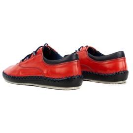 Olivier Casual men's shoes 312K red grain 10
