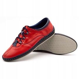 Olivier Casual men's shoes 312K red grain 11