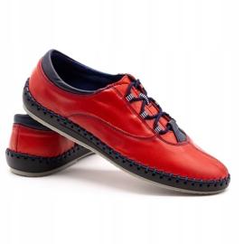 Olivier Casual men's shoes 312K red grain 12