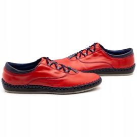 Olivier Casual men's shoes 312K red grain 13