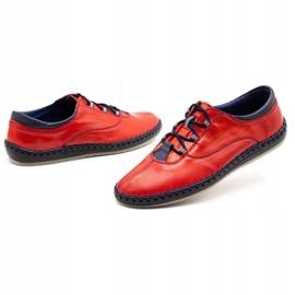 Olivier Casual men's shoes 312K red grain 1