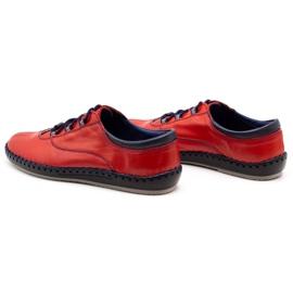 Olivier Casual men's shoes 312K red grain 2