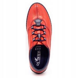 Olivier Casual men's shoes 312K red grain 3