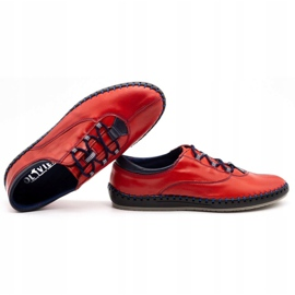 Olivier Casual men's shoes 312K red grain 5