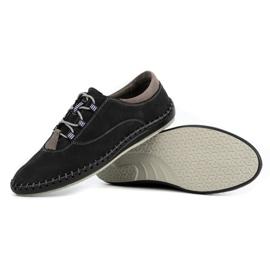 Olivier Casual men's shoes 312K black nubuck 3