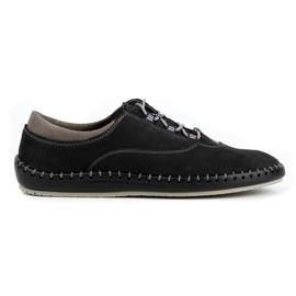 Olivier Casual men's shoes 312K black nubuck 1