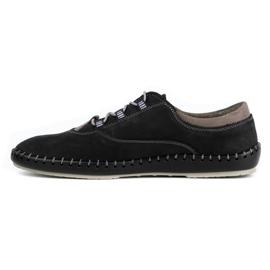 Olivier Casual men's shoes 312K black nubuck 2