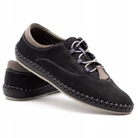 Olivier Casual men's shoes 312K black nubuck 4