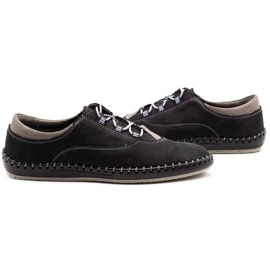 Olivier Casual men's shoes 312K black nubuck 5