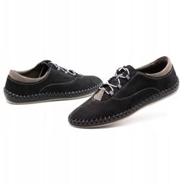 Olivier Casual men's shoes 312K black nubuck 6