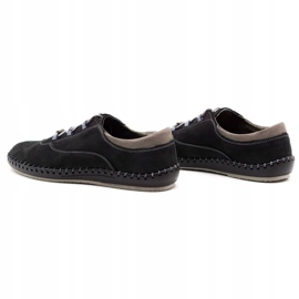 Olivier Casual men's shoes 312K black nubuck 7