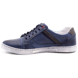 Polbut Men's shoes J47 navy blue with gray multicolored 1
