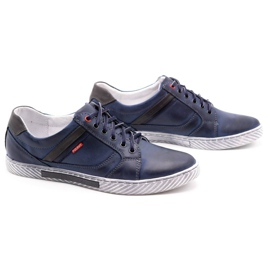 Polbut Men's shoes J47 navy blue with gray multicolored 2