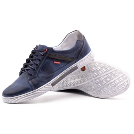 Polbut Men's shoes J47 navy blue with gray multicolored 3