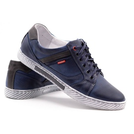 Polbut Men's shoes J47 navy blue with gray multicolored 4