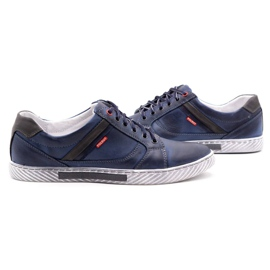 Polbut Men's shoes J47 navy blue with gray multicolored 5