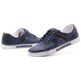 Polbut Men's shoes J47 navy blue with gray multicolored 6
