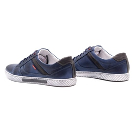 Polbut Men's shoes J47 navy blue with gray multicolored 7