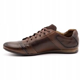 Lemar Men's leather shoes 882 brown 1