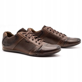 Lemar Men's leather shoes 882 brown 2