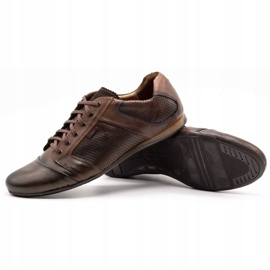 Lemar Men's leather shoes 882 brown 3