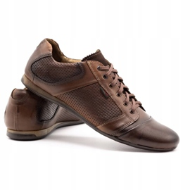 Lemar Men's leather shoes 882 brown 4