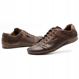 Lemar Men's leather shoes 882 brown 6