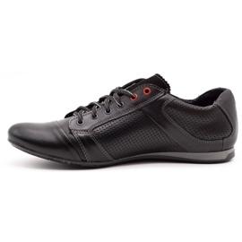 Lemar Black men's leather shoes 882 1
