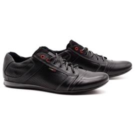Lemar Black men's leather shoes 882 2