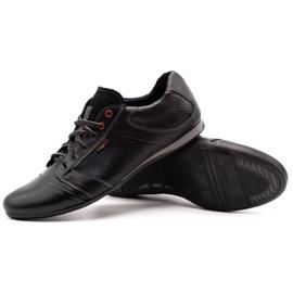 Lemar Black men's leather shoes 882 3
