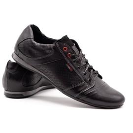 Lemar Black men's leather shoes 882 4