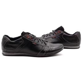 Lemar Black men's leather shoes 882 5
