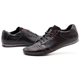 Lemar Black men's leather shoes 882 6