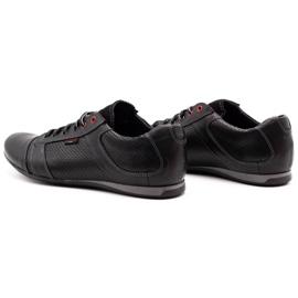 Lemar Black men's leather shoes 882 7