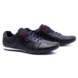 Lemar Men's leather shoes 882 dark navy blue grain 2
