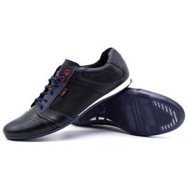 Lemar Men's leather shoes 882 dark navy blue grain 3