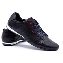 Lemar Men's leather shoes 882 dark navy blue grain 4