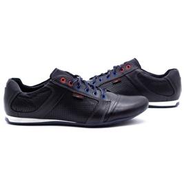 Lemar Men's leather shoes 882 dark navy blue grain 5