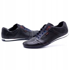 Lemar Men's leather shoes 882 dark navy blue grain 6