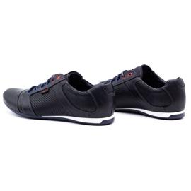 Lemar Men's leather shoes 882 dark navy blue grain 7