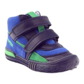 Pomegranate shoes Velcro Bartek 91756 multicolored blue green 1