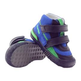 Pomegranate shoes Velcro Bartek 91756 multicolored blue green 3
