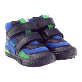 Pomegranate shoes Velcro Bartek 91756 multicolored blue green 4