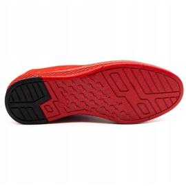 Polbut Men's leather casual shoes K24 red nubuck black 1